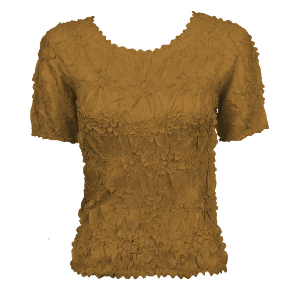 Wholesale Origami - Short Sleeve Solid Taupe - Queen Size Fits (XL-3X)