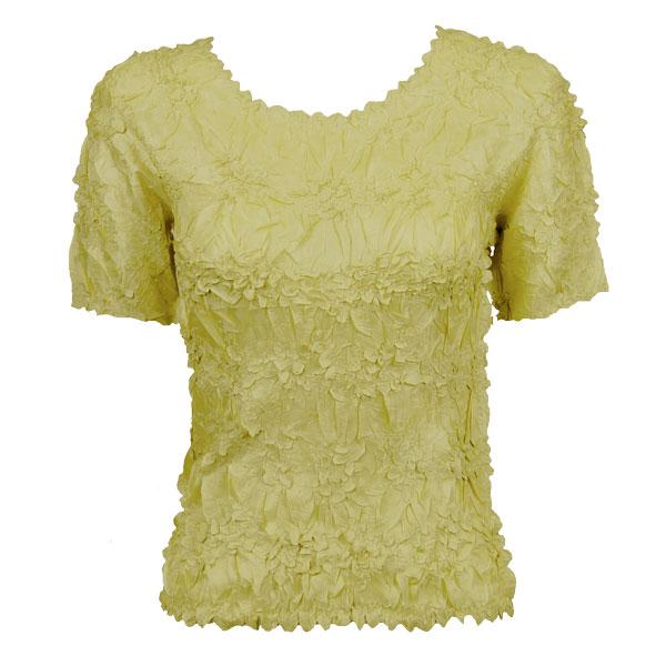 Wholesale Origami - Short Sleeve Solid Lemon - One Size (S-XL)