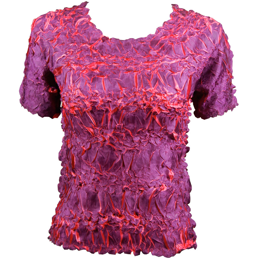 Wholesale Origami - Short Sleeve Purple - Coral - One Size (S-XL)