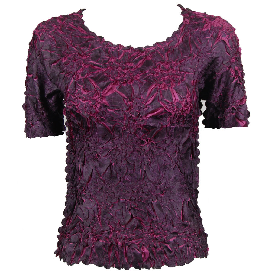 Wholesale Origami - Short Sleeve Black - Berry - One Size (S-XL)