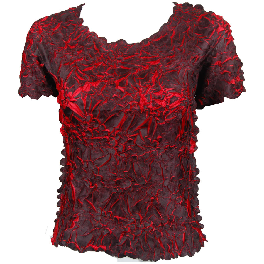 Wholesale Origami - Short Sleeve Black - Red - One Size (S-XL)