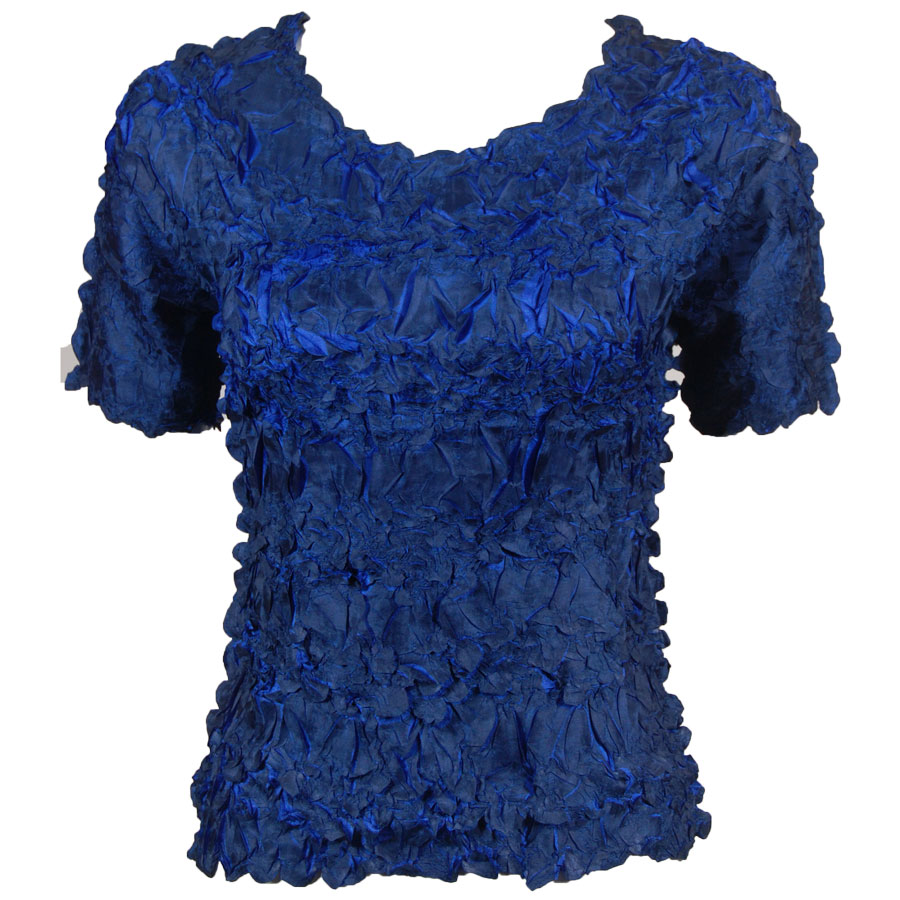 Wholesale Origami - Short Sleeve Midnight - Royal - Queen Size Fits (XL-3X)