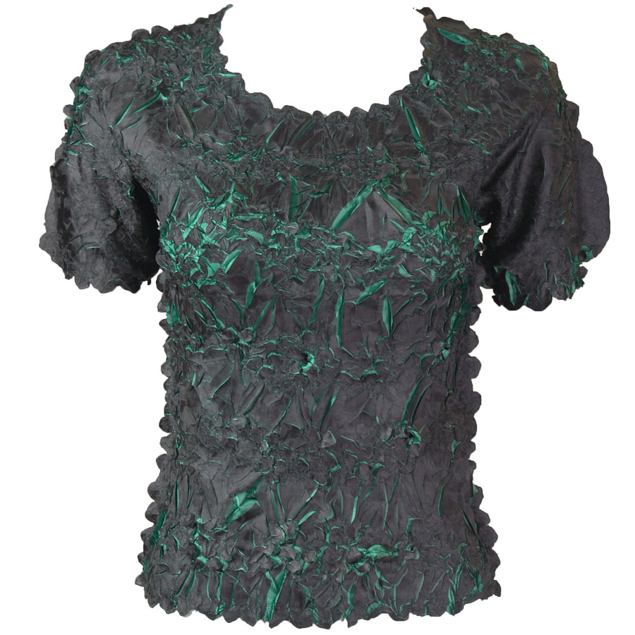 Wholesale Origami - Short Sleeve Black - Emerald - One Size (S-XL)