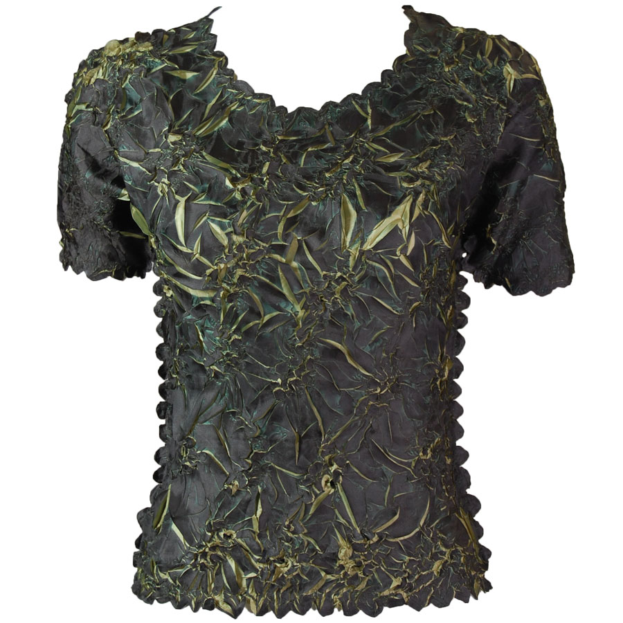 Wholesale Origami - Short Sleeve Dark Olive - Leaf Green - One Size (S-XL)