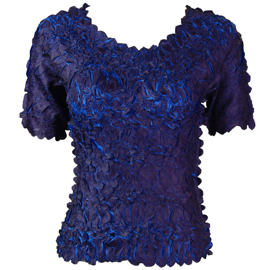 Wholesale Origami - Short Sleeve Dark Purple - Royal - One Size (S-XL)