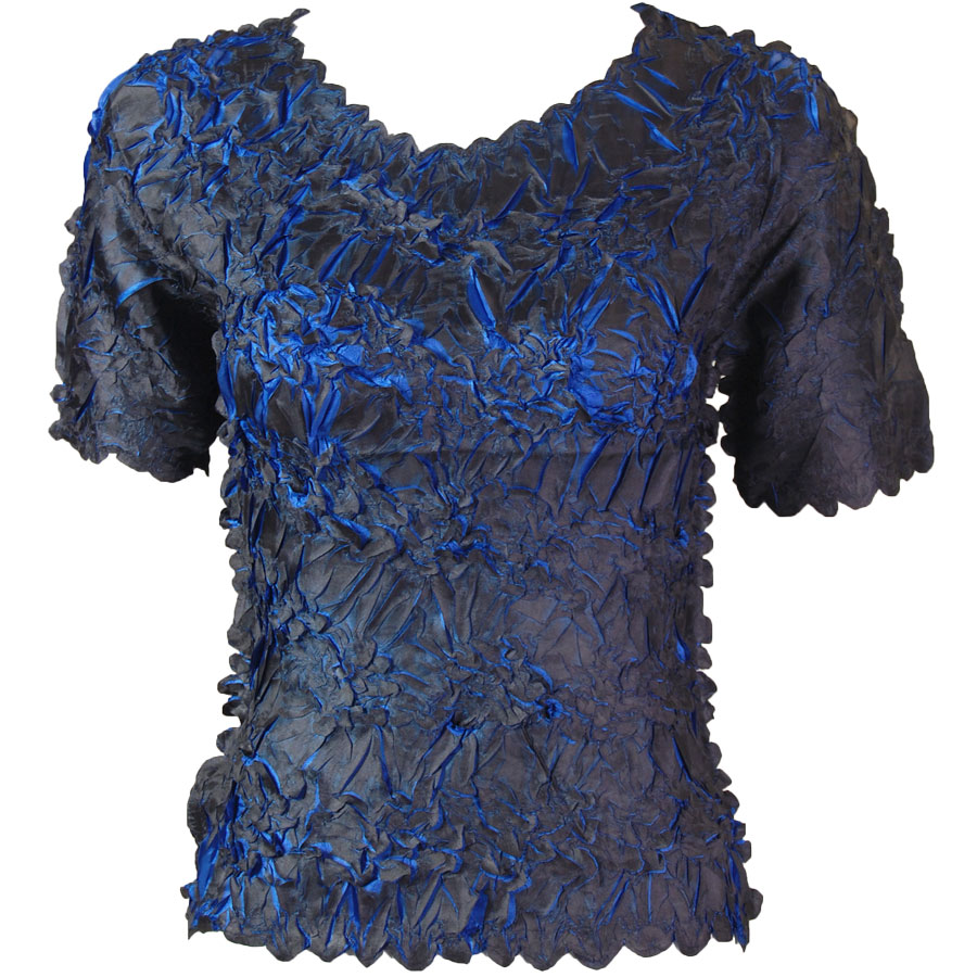Wholesale Origami - Short Sleeve Dark Grey - Royal - Queen Size Fits (XL-3X)