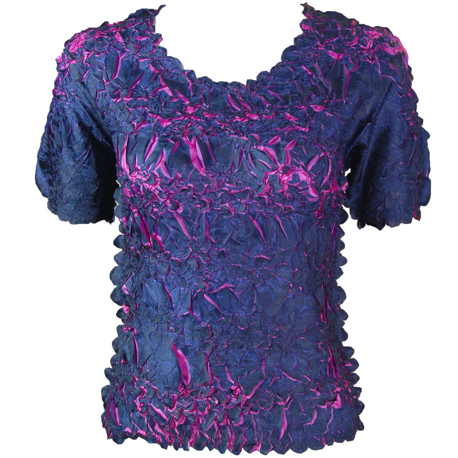 Wholesale Origami - Short Sleeve Midnight - Orchid - Queen Size Fits (XL-3X)