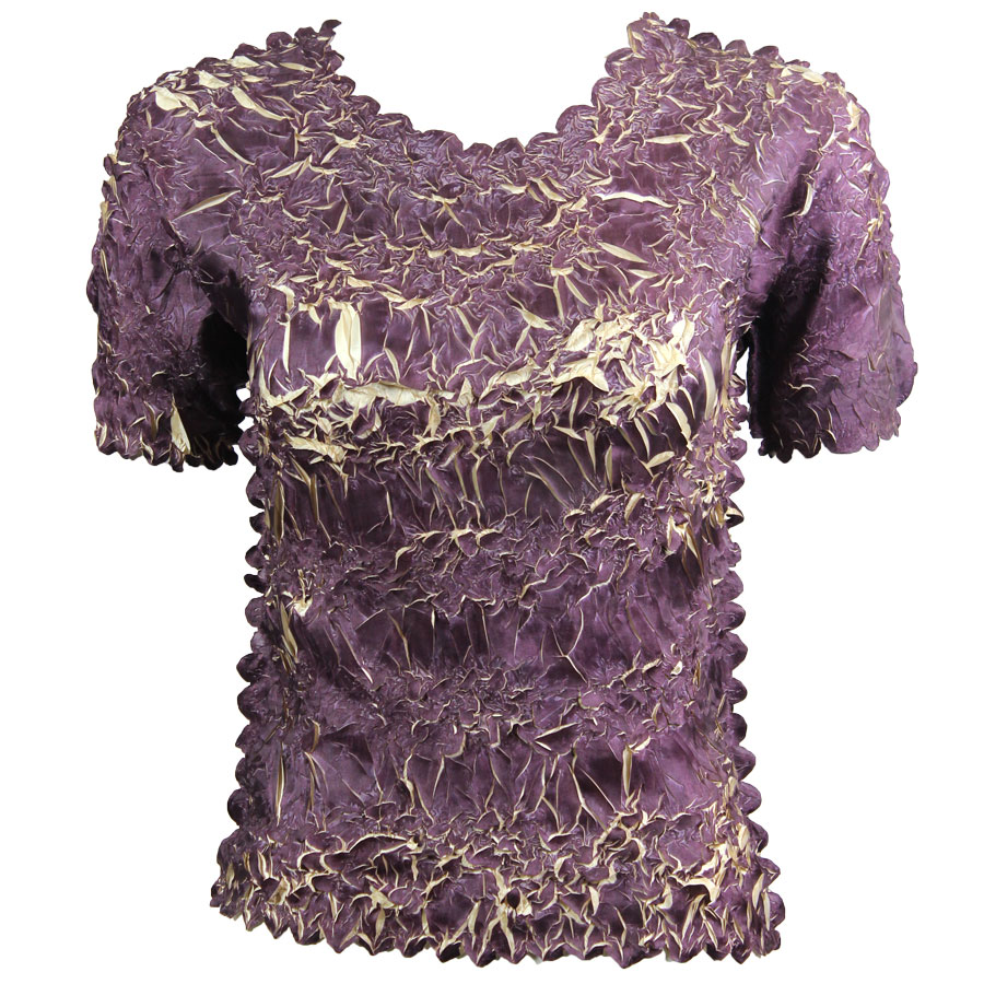 Wholesale Origami - Short Sleeve Purple - Light Gold - One Size (S-XL)