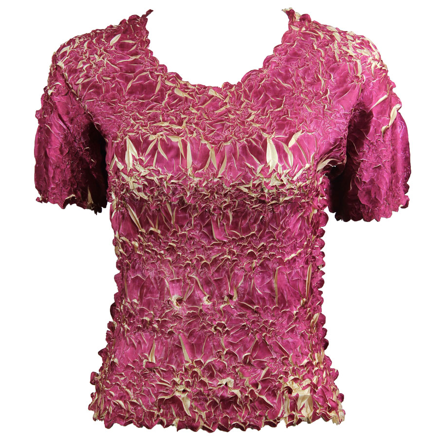 Wholesale Origami - Short Sleeve Plum - Light Gold - One Size (S-XL)