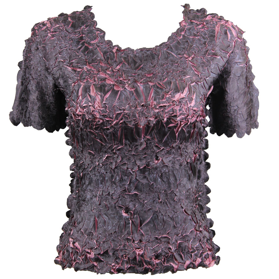 Wholesale Origami - Short Sleeve Black - Dusty Purple - One Size (S-XL)