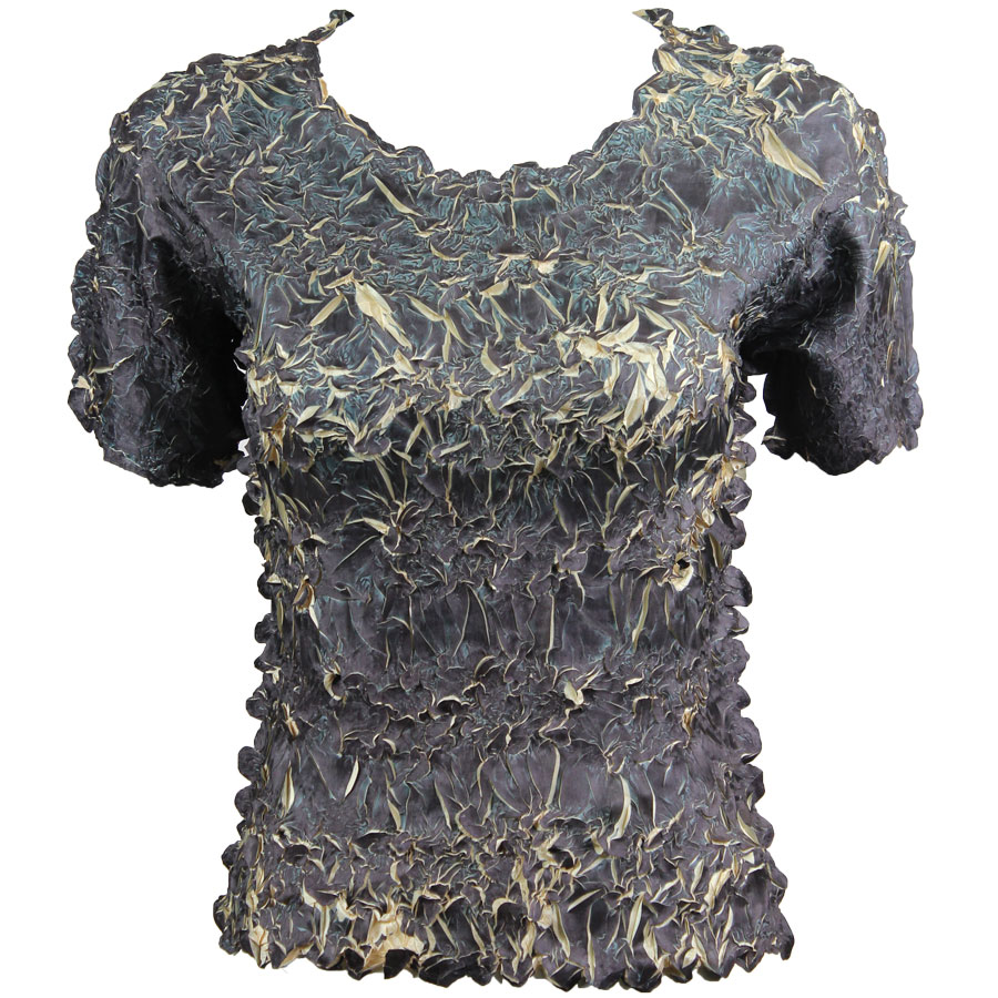 Wholesale Origami - Short Sleeve Black - Light Gold - One Size (S-XL)