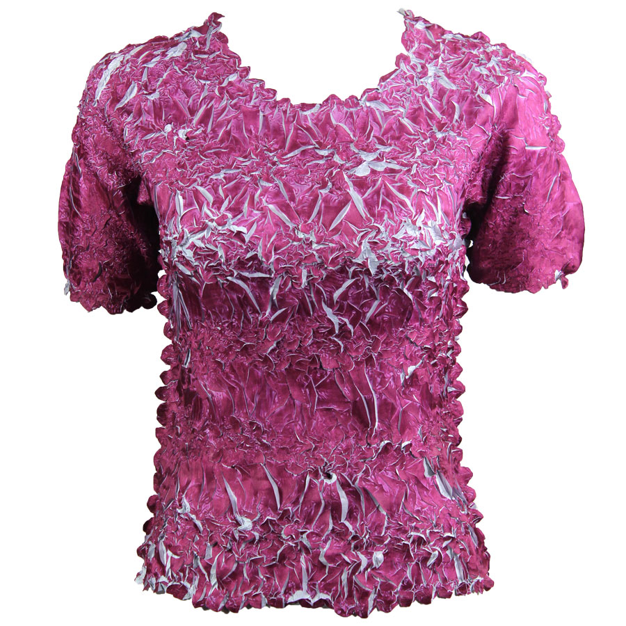 Wholesale Origami - Short Sleeve Plum - Platinum - Queen Size Fits (XL-3X)