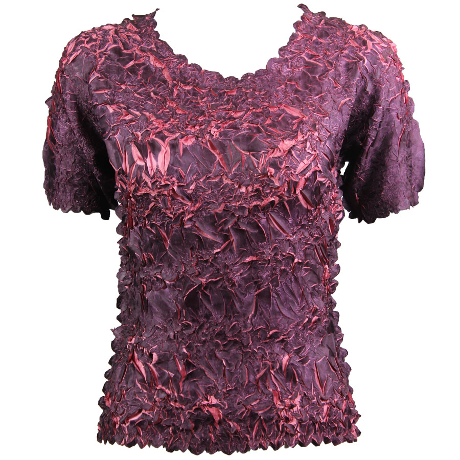 Wholesale Origami - Short Sleeve Purple - Coral Pink - One Size (S-XL)
