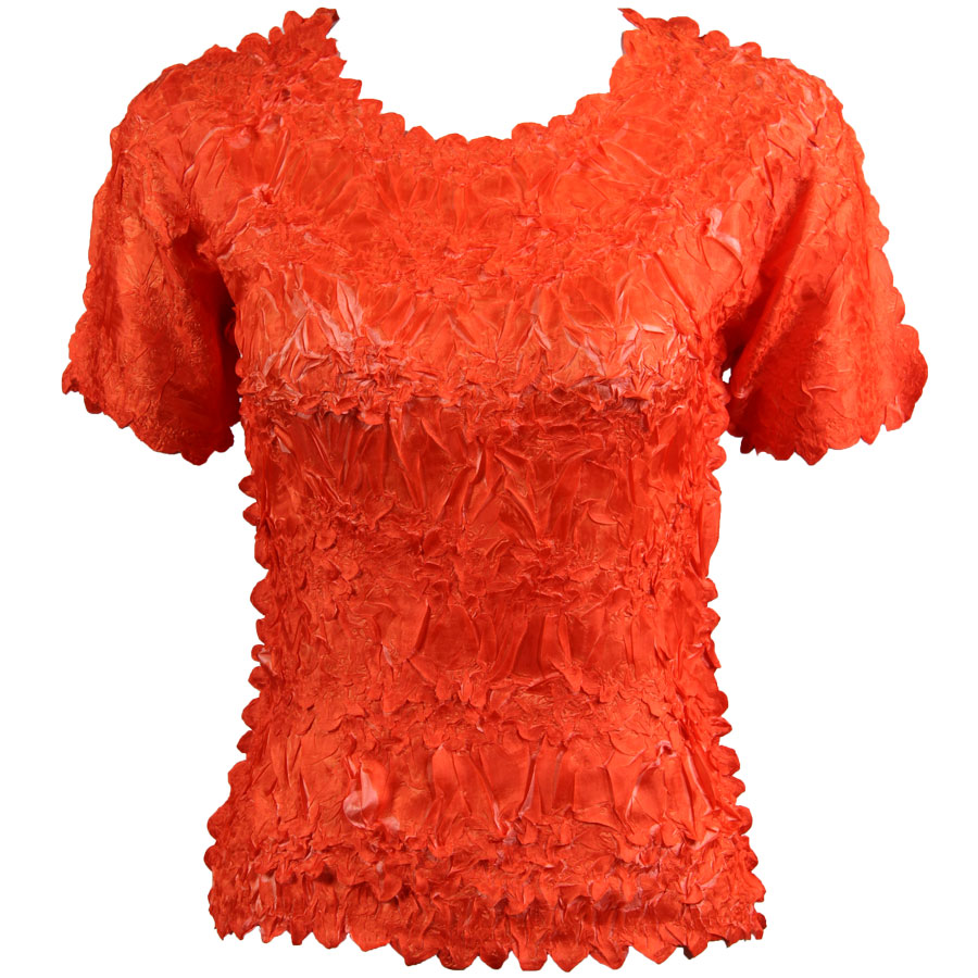 Wholesale Origami - Short Sleeve Orange - Coral - One Size (S-XL)