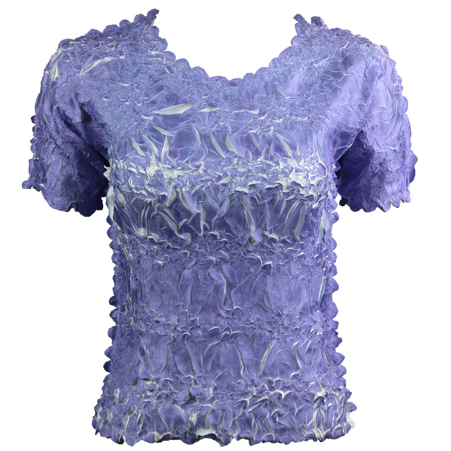 Wholesale Origami - Short Sleeve Violet - White - One Size (S-XL)
