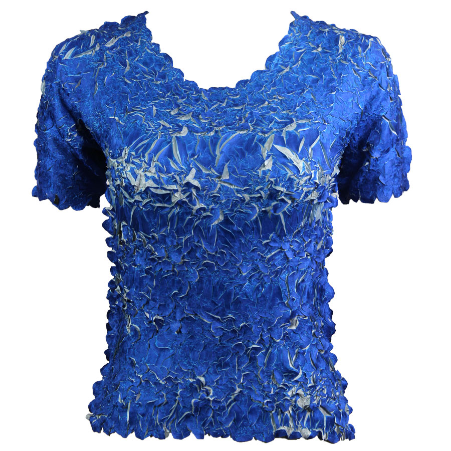 Wholesale Origami - Short Sleeve Royal - Silver - One Size (S-XL)