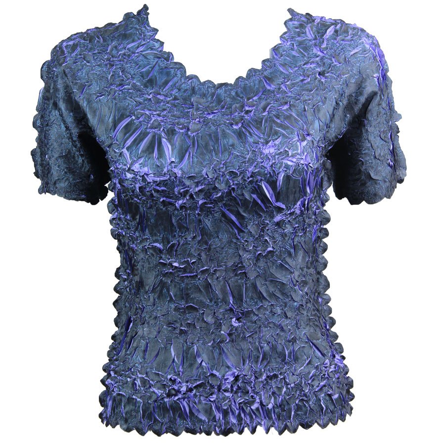 Wholesale Origami - Short Sleeve Black - Violet - One Size (S-XL)