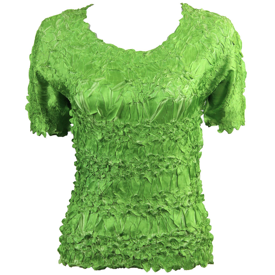 Wholesale Origami - Short Sleeve Green Apple - Light Green - Queen Size Fits (XL-3X)
