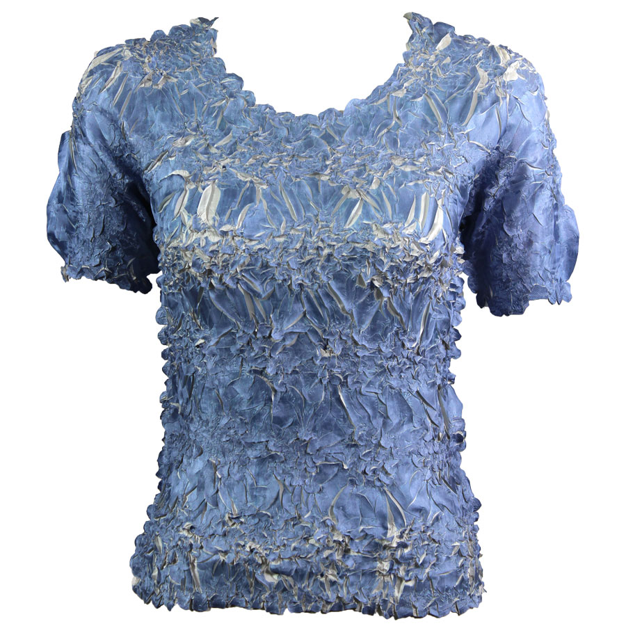 Wholesale Origami - Short Sleeve Denim - Pearl - Queen Size Fits (XL-3X)