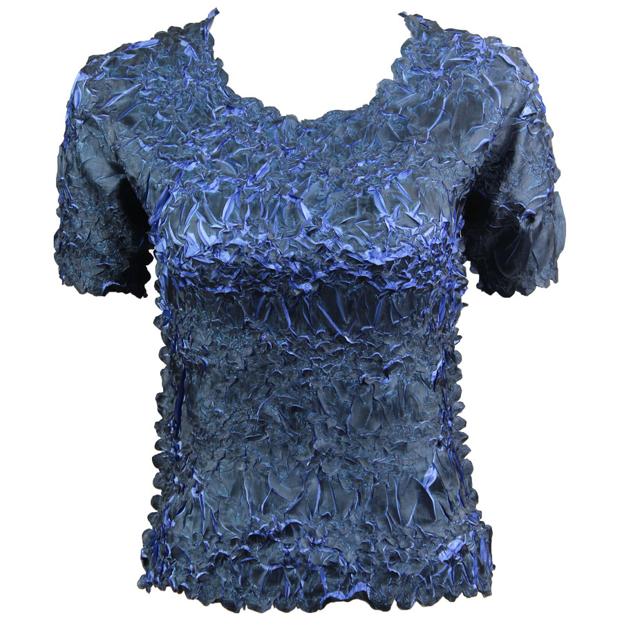 Wholesale Origami - Short Sleeve Black - Denim - Queen Size Fits (XL-3X)