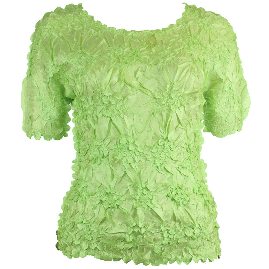 Wholesale Origami - Short Sleeve Solid Spring Green - Queen Size Fits (XL-3X)