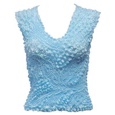 Wholesale Pinpoint Popcorn - Sleeveless Sky Blue - One Size (S-XL)