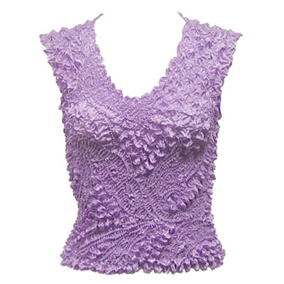 Wholesale Pinpoint Popcorn - Sleeveless Lilac - One Size (S-XL)