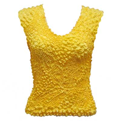 Wholesale Pinpoint Popcorn - Sleeveless Sunny Gold (MB) - One Size (S-XL)