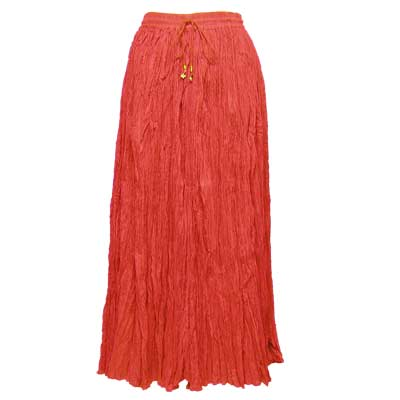 Wholesale Skirts - Long Cotton Broomstick with Pocket 503 Solid Red -
