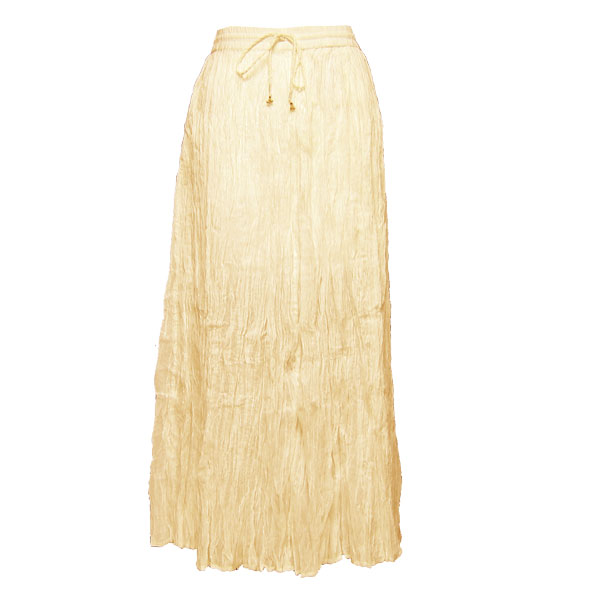 Wholesale Skirts - Long Cotton Broomstick with Pocket 503 Solid Ivory Creme -