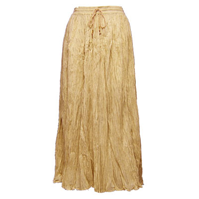 Wholesale Skirts - Long Cotton Broomstick with Pocket 503 Solid Sand -