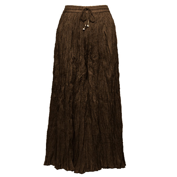 Wholesale Skirts - Long Cotton Broomstick with Pocket 503 Solid Dark Brown -
