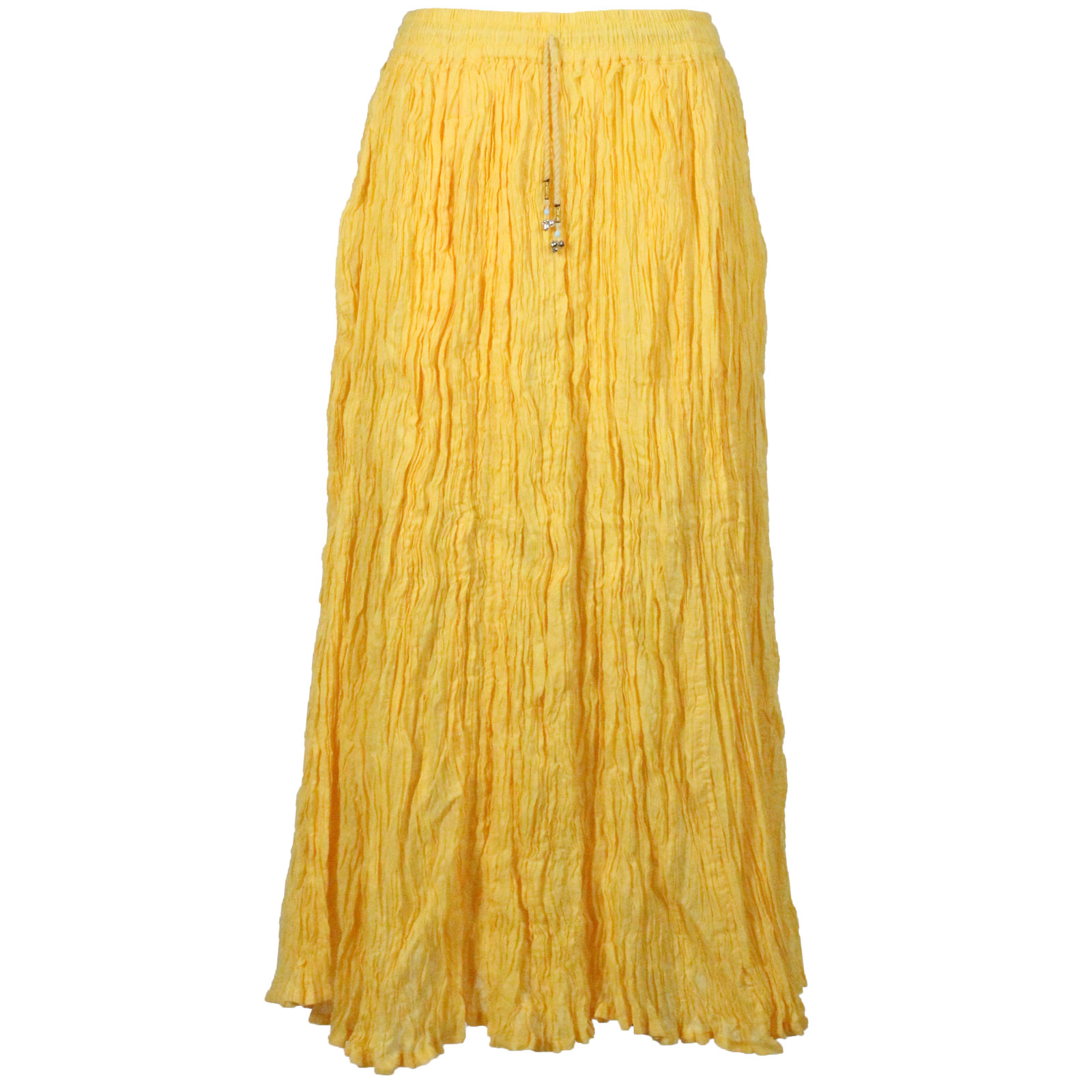 Wholesale Skirts - Long Cotton Broomstick with Pocket 503 Solid Yellow -