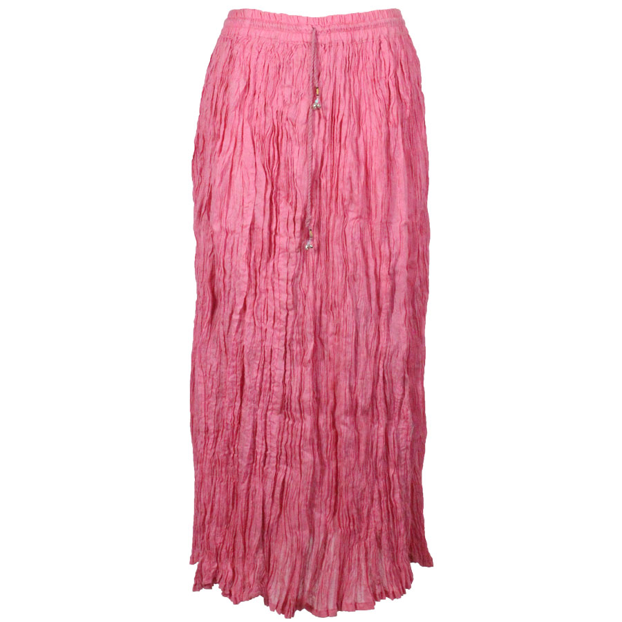 Wholesale Skirts - Long Cotton Broomstick with Pocket 503 Solid Pink -