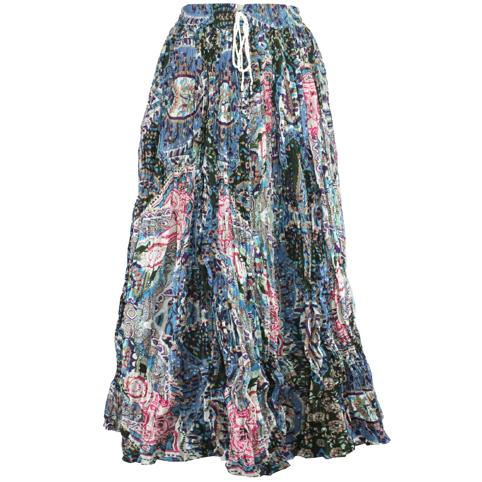 Wholesale Skirts - Long Cotton Broomstick with Pocket 503 Print #19B -