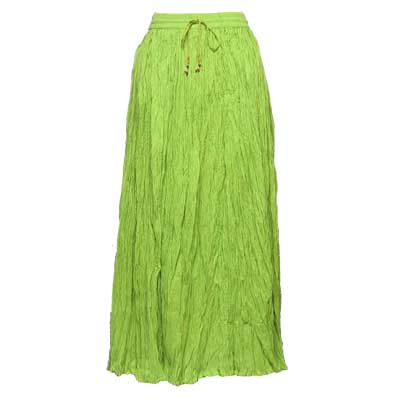 Wholesale Skirts - Long Cotton Broomstick with Pocket 503 Solid Lime -