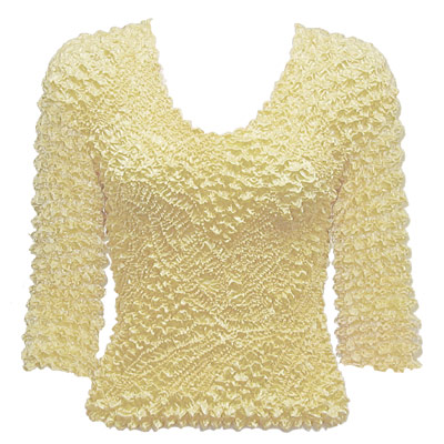 Wholesale Pinpoint Popcorn - Three Quarter Sleeve Ivory - One Size (S-XL)