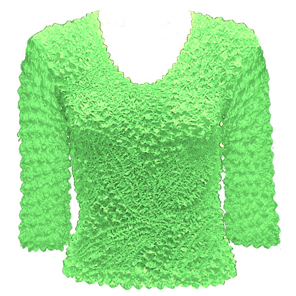 Wholesale Pinpoint Popcorn - Three Quarter Sleeve Vivid Green - One Size (S-XL)