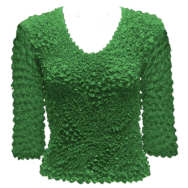 Wholesale Pinpoint Popcorn - Three Quarter Sleeve Kelly Green - One Size (S-XL)