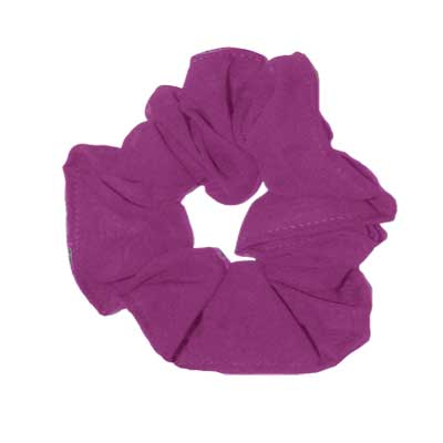 Wholesale Georgette Scrunchies  Solid Raspberry -