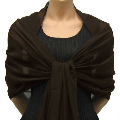Wholesale Georgette Wraps* Solid Dark Brown -