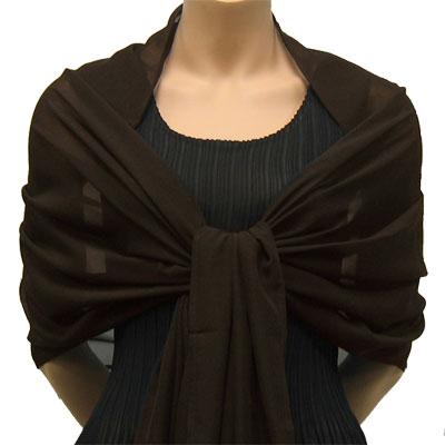 Georgette Wraps* - Solid Dark Brown
