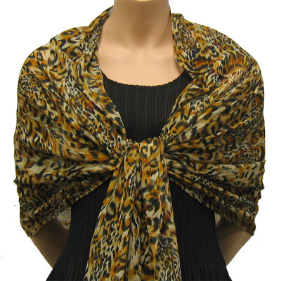Wholesale Skirts - Georgette Mini Pleat Ankle Length*   Leopard -