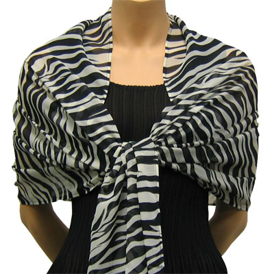 Wholesale Georgette Wraps*  Zebra -