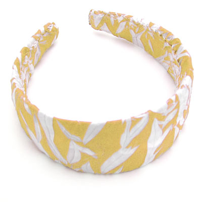 Wholesale Origami Headbands*  Sun Gold-White -