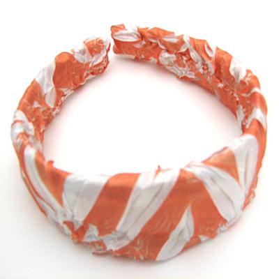 Wholesale Origami Headbands*  Tangerine-White -