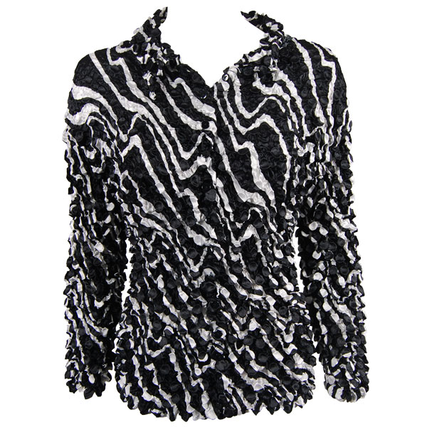 Wholesale Coin Style - Cardigan Ribbon Black-White - One Size (S-XL)