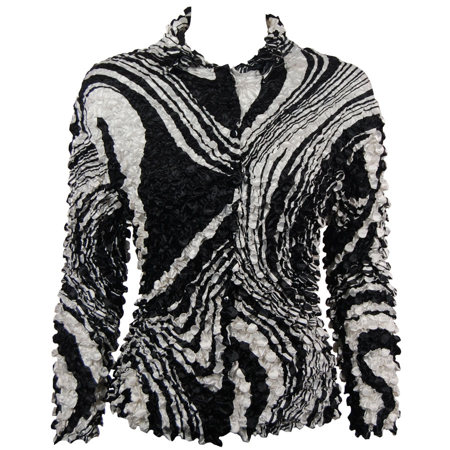 Wholesale Coin Style - Cardigan Swirl Black-White - One Size (S-XL)
