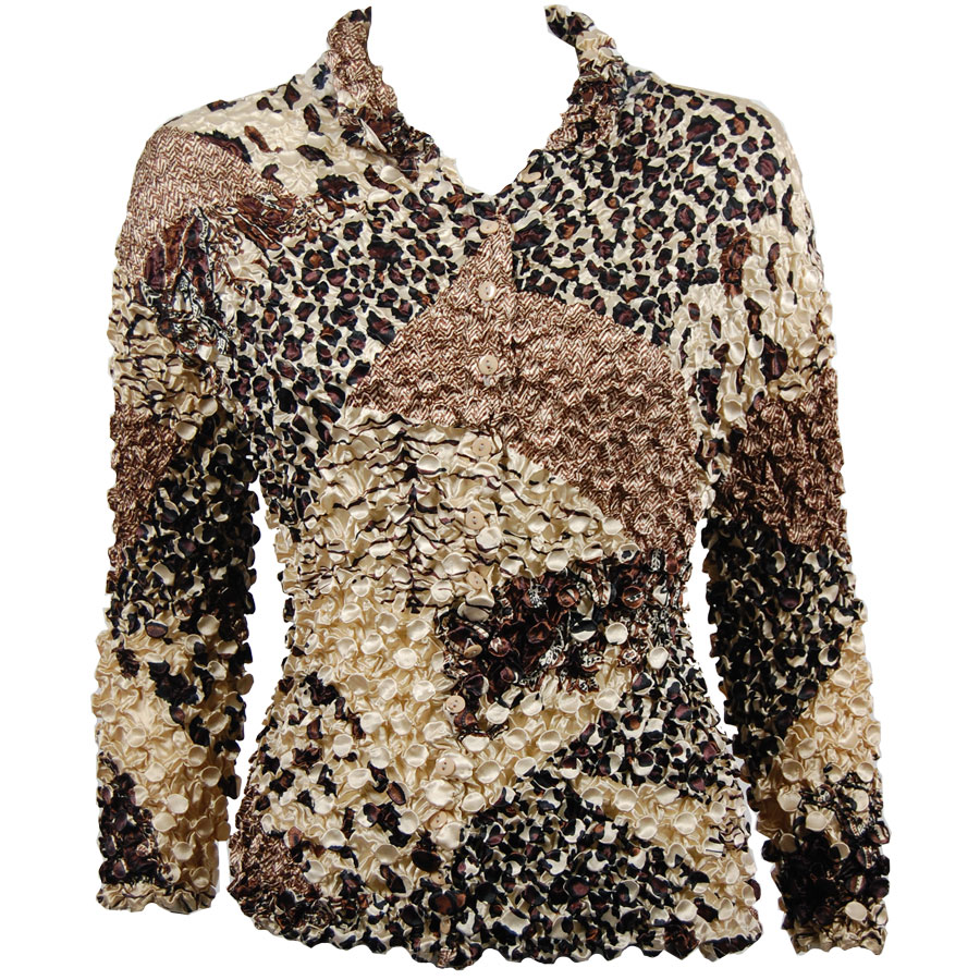 Wholesale Coin Style - Cardigan Patchwork Paisley Jungle - One Size (S-XL)