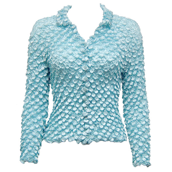 Wholesale Coin Style - Cardigan Sky Blue - One Size (S-XL)